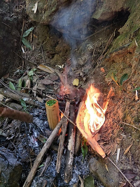 Barbecue in bamboo