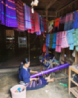 Karen colorful weaving