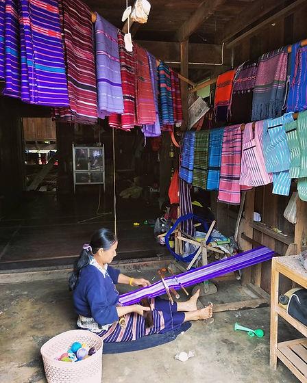 Karen colorful weaving