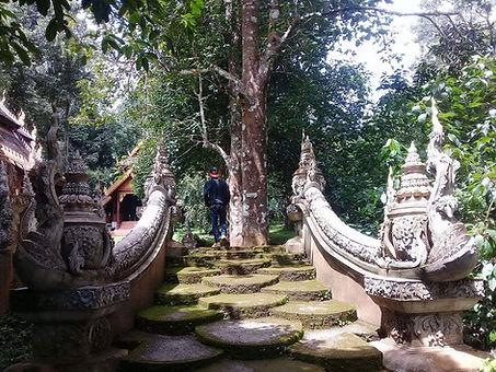 Stairs to Wat Luang Khun Win