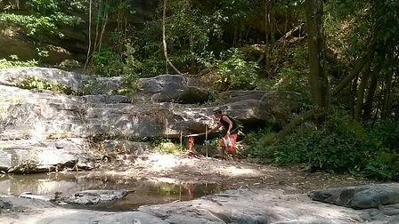 Barbecue at a waterfall