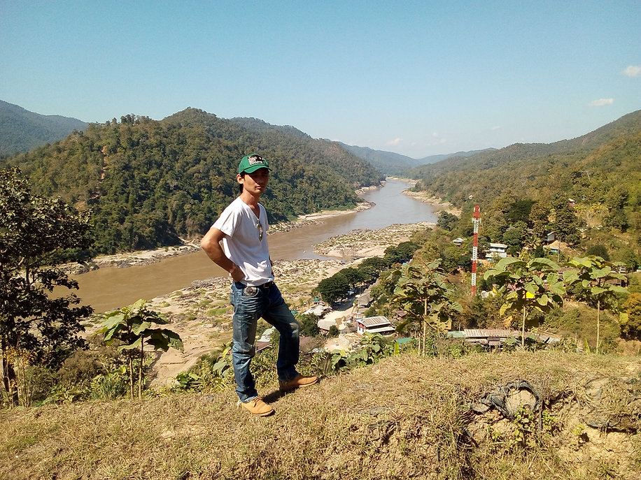 View from the temple on Mae Sam Laep, the Salawin river and Myanmar