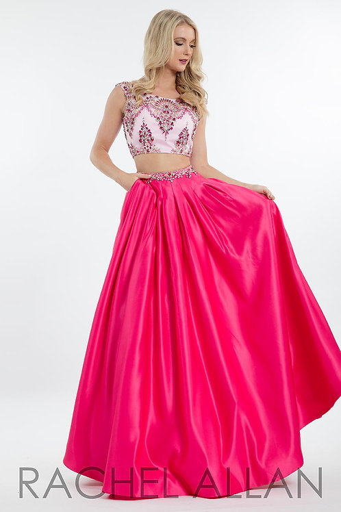 Rachel Allan 7618 Pink Fuchsia Size 4