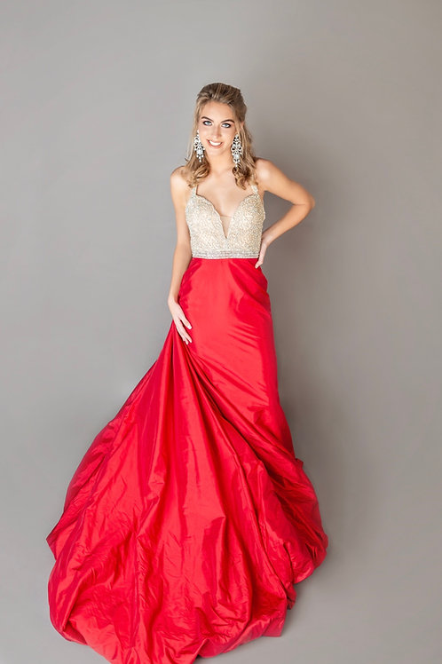 Mac Duggal 12163 Red Size 6