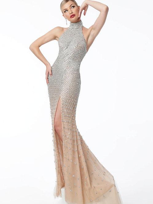 Jovani 57018 Nude/Silver Size 2