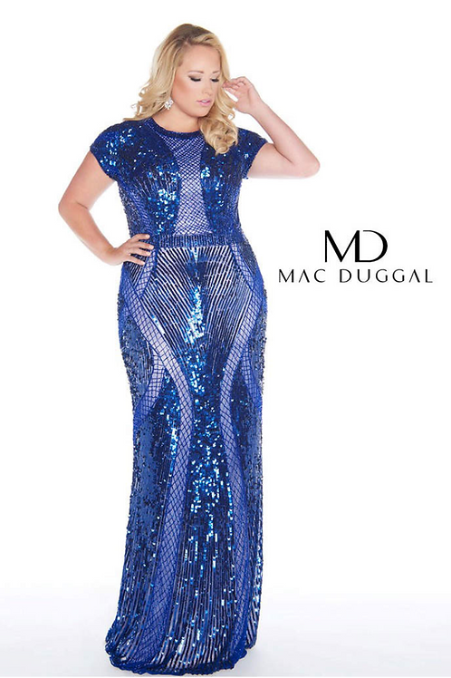 Mac Duggal 4676 Cobalt Size 18W