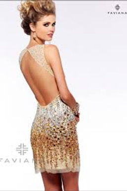 Faviana S7158 Nude/Gold Size 0
