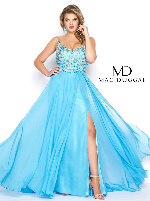 Mac Duggal 65979 Ocean Blue Size18W