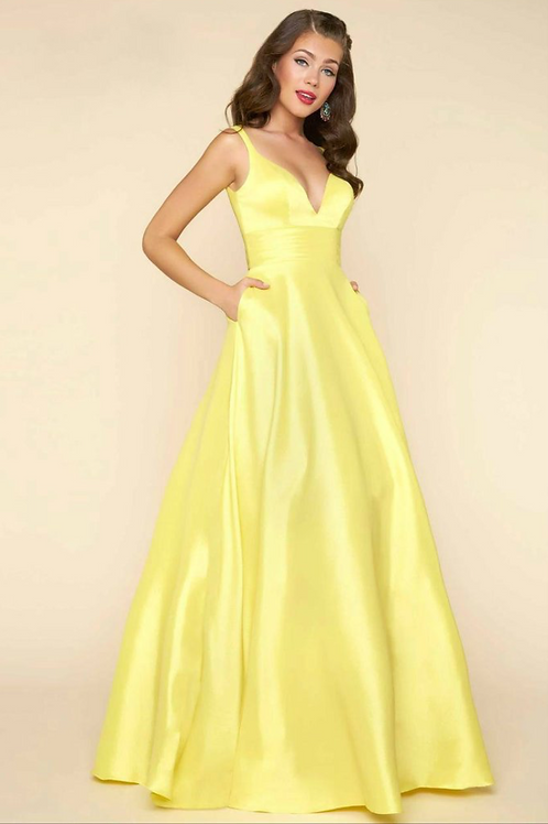 Mac Duggal 65514 Lemon Size 6