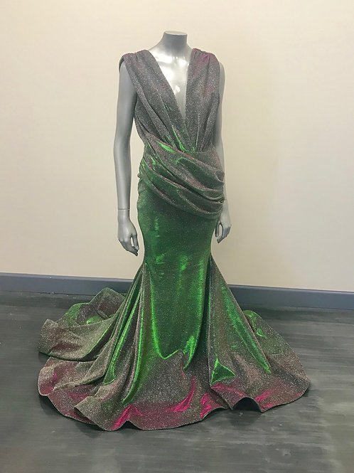 Jessica Angel SP727 Green Sparkle Size Large