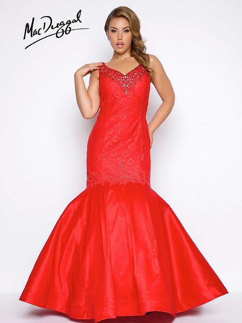 Mac Duggal 77178 Red Size 14W