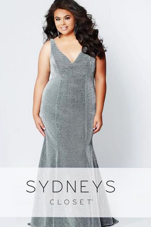 Sydney's Closet SC7267 Silver Shimmer Size 24