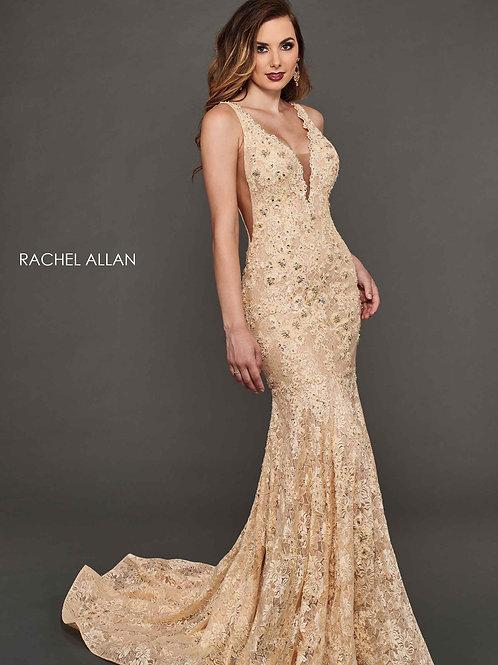 Rachel Allan 8388 Champagne Size 6