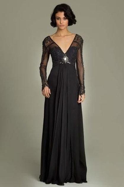 Jovani 78425 Black Size 10