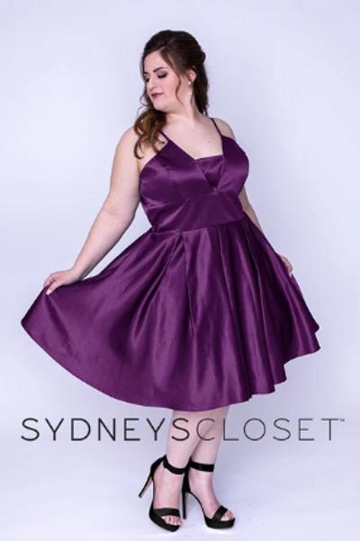 Sydney's Closet SC8092 Purple Size 18