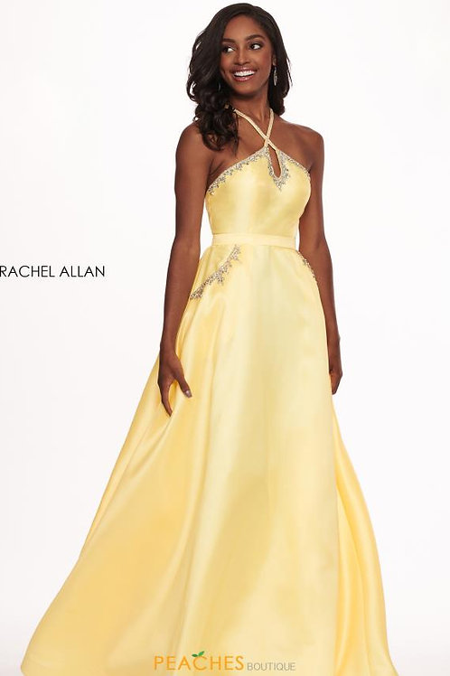 Rachel Allan 6514 Size 8 Yellow