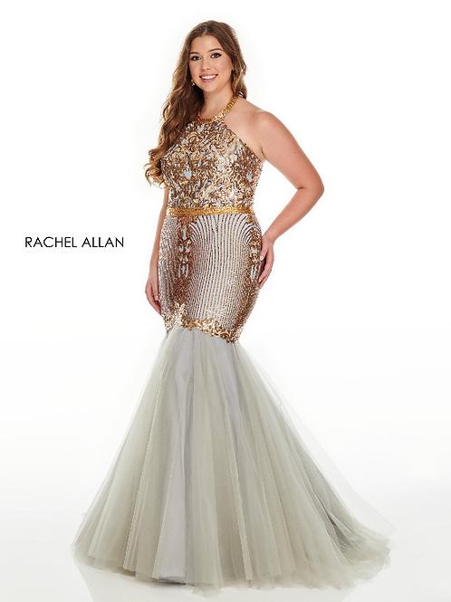 Rachel Allan 7240 Gold Silver Size 18W