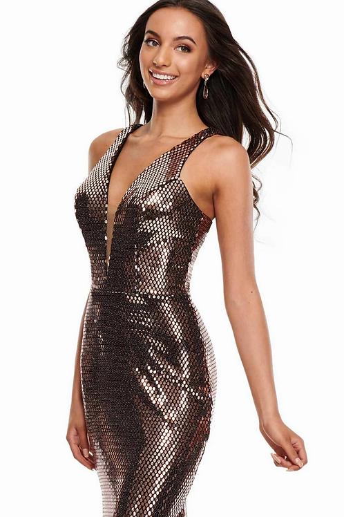 Rachel Allan 7030 Rose Gold Size 16