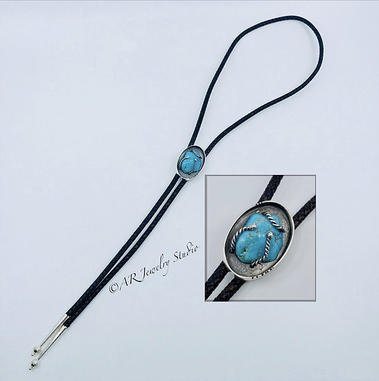 Bolo Tie with Turquoise