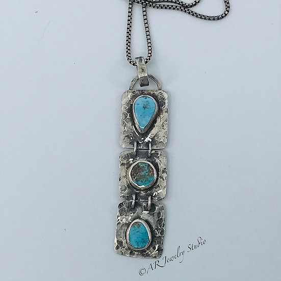 Sterling and Three Turquoise