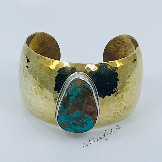 Sterling Silver and Brass Cuff