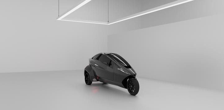 Fun three wheel electric car