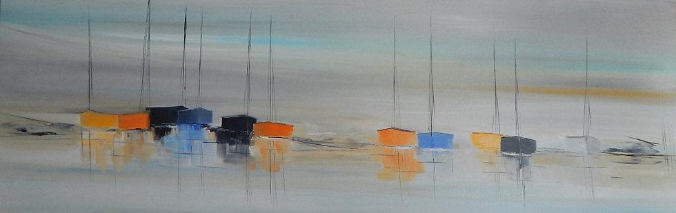 """L. Massou, """"La vie sur l'eau"""""""