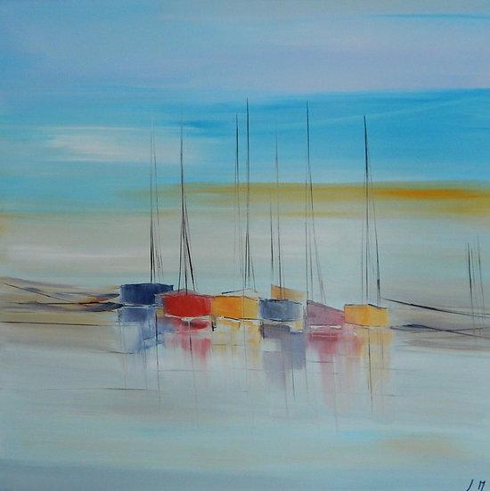 """L. Massou, """"Un matin bleu"""""""