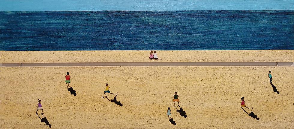 "M. ZRIHEN, ""People on the beach"""
