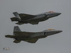 F35 Lightning II and F22 Raptors