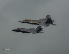 F35 and F22 in Formation
