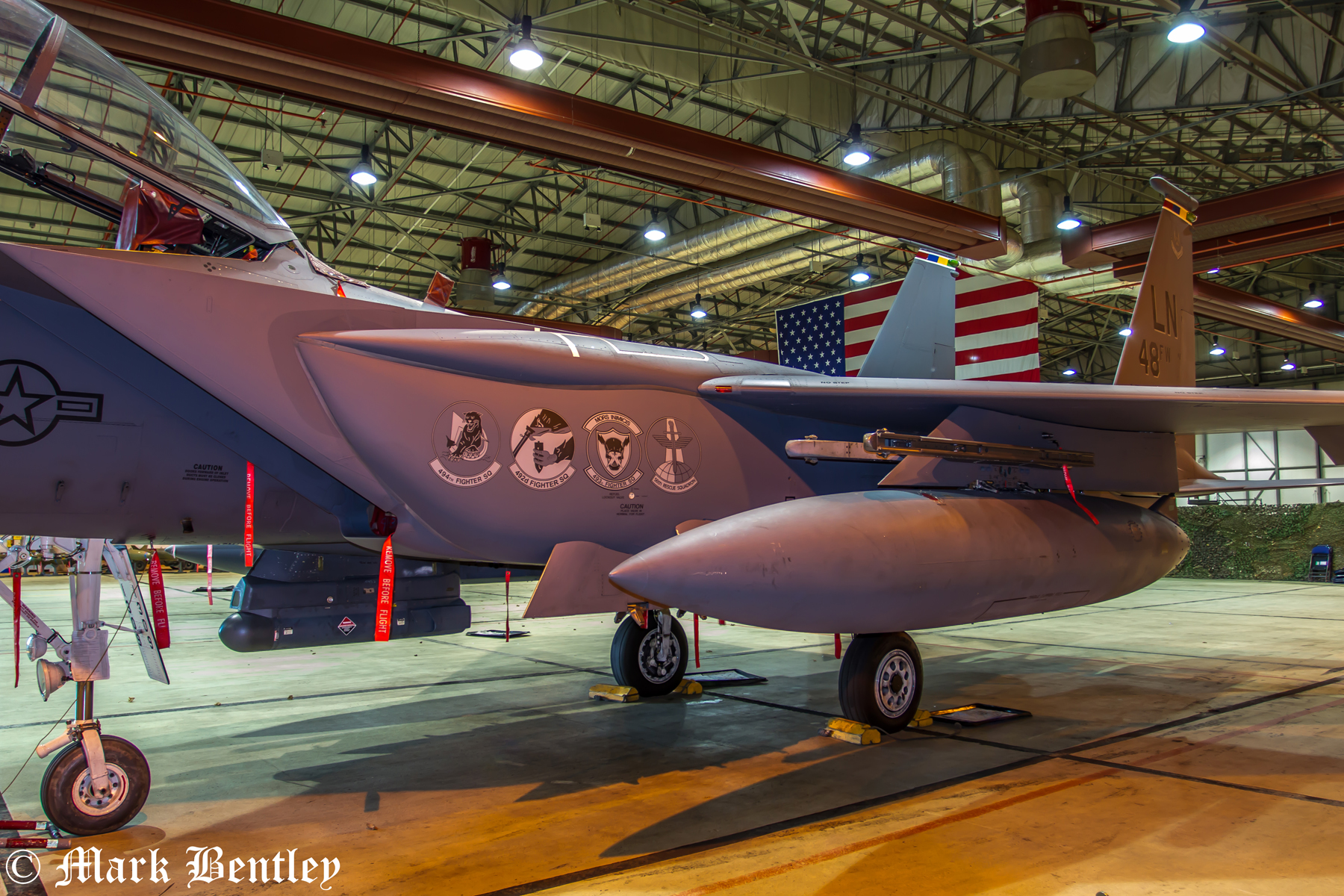 A070 F15 Eagle inside a hanger