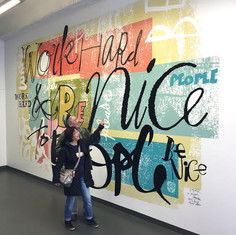 Wall mural, Lettering Team project