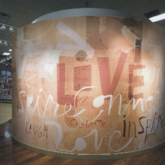 Wall mural, co-designed with Randall Slaughter