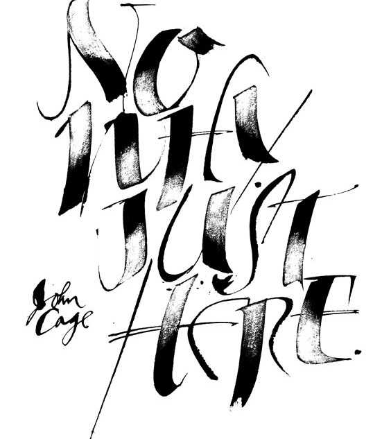 Broad pen lettering