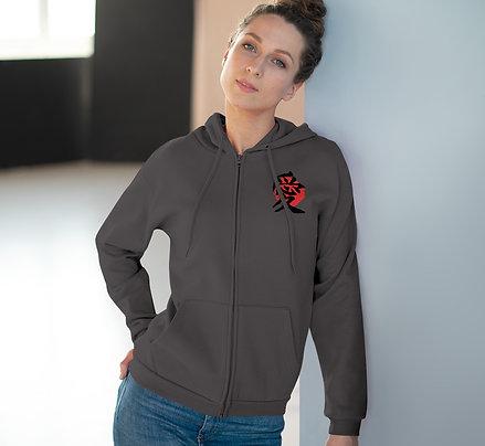 Unisex Demon Slayer Hooded Zip Sweatshirt