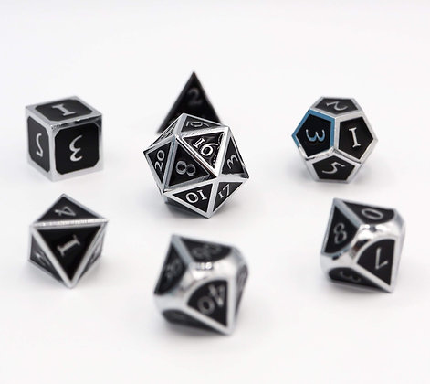 Silver with Onyx RPG Set