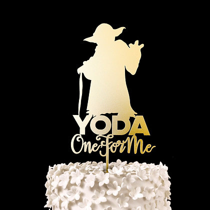 Yoda One For Me - Star Wars Wedding Cake Topper, Keepsake Wedding Cake Toppers,