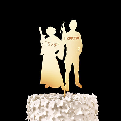 I Love You, I Know - Star Wars Wedding Cake Topper, Keepsake Wedding Cake Toppe