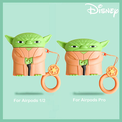 Disney Star Wars Airpods Pro Airpods 2 Case 3D Silicone Baby Yoda Anime Cartoon