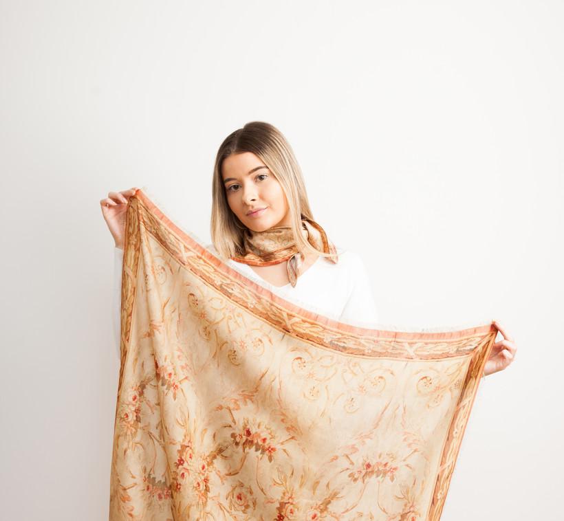 Large Pure silk Scarf