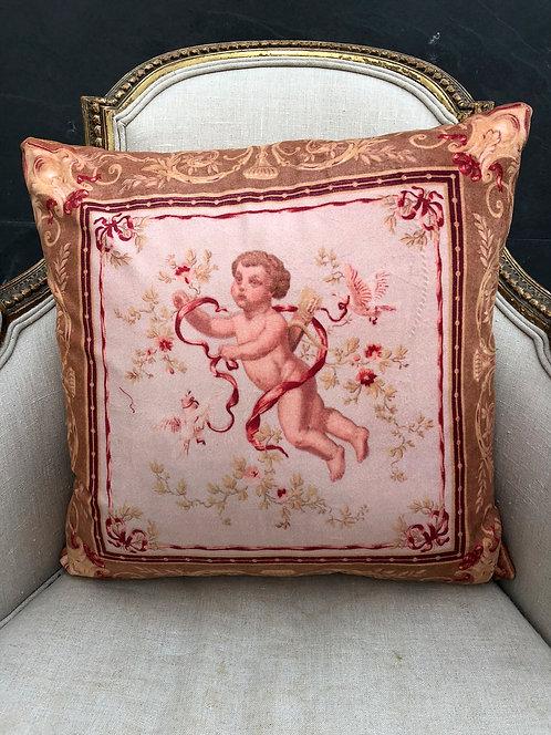 Cherub swathed in Garlands Cushion 45cmx45ccm