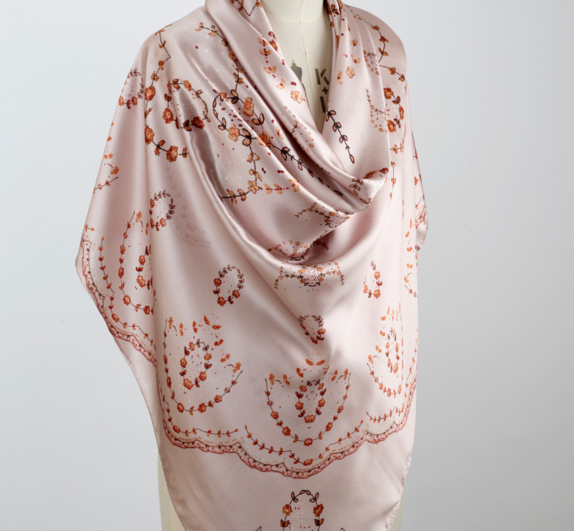 100% pure silk scarf