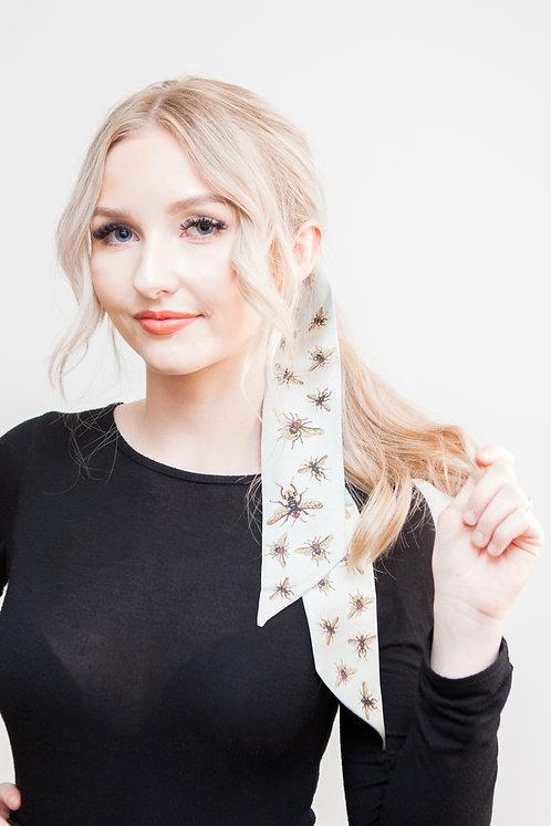 Silk Bees Hair/Neck tie 100cm x 7cm