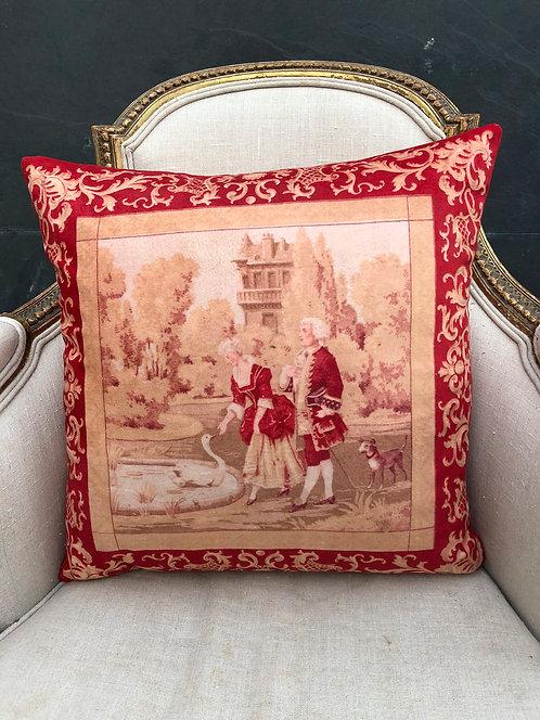 Victorian Couple Cushion 45cmx45ccm