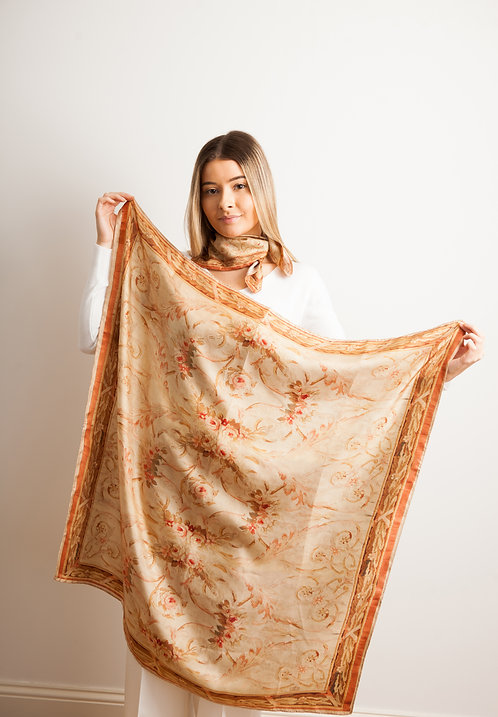 Medium Aubusson Scarf 95cm x 95cm