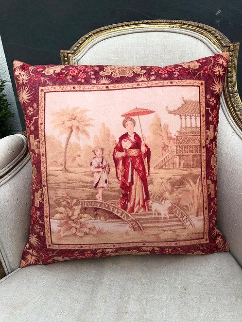 Japanese Lady Oriental Cushion 45cmx45cm