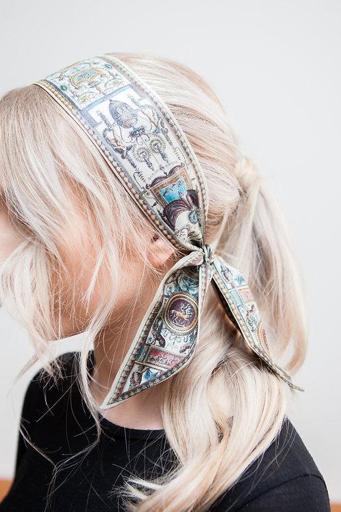 Silk Deed Hair/Neck tie 100cm x 7cm