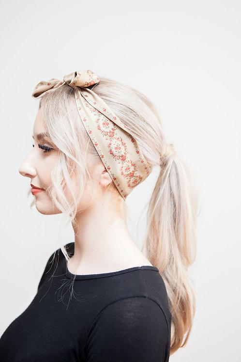 Silk Rose Garlands Hair/Neck tie 100cm x 7cm