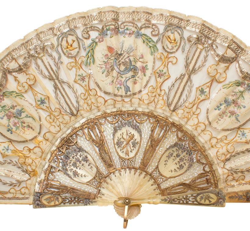Original antique fan